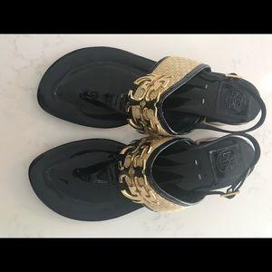 Tory Burch Block Heel Slingback Sandals